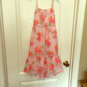 Hi-Lo🌸Pink girls flower dress🌸